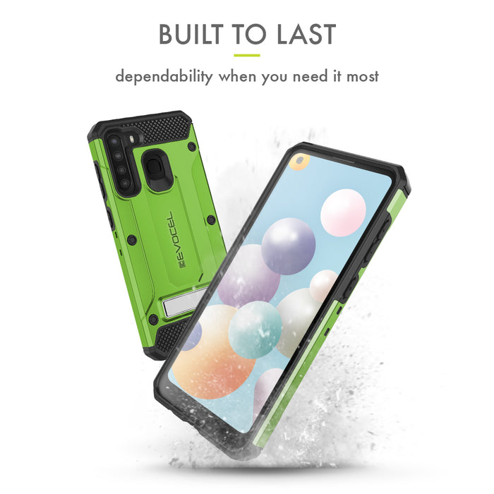 Evocel Samsung Galaxy A21 Explorer Series Pro Green Case