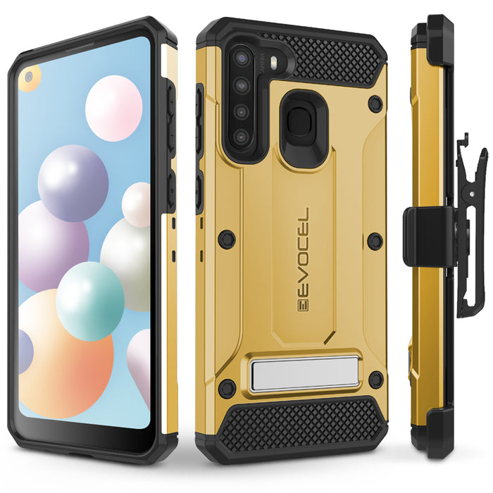 Evocel Samsung Galaxy A21 Explorer Series Pro Gold Case