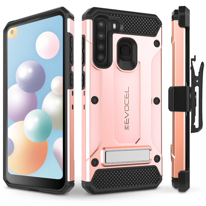 Evocel Samsung Galaxy A21 Explorer Series Pro Rose Gold Case