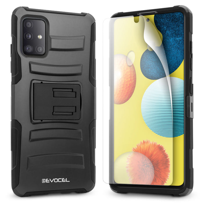 Evocel Samsung Galaxy A51 (5G) Generation Series Black Case