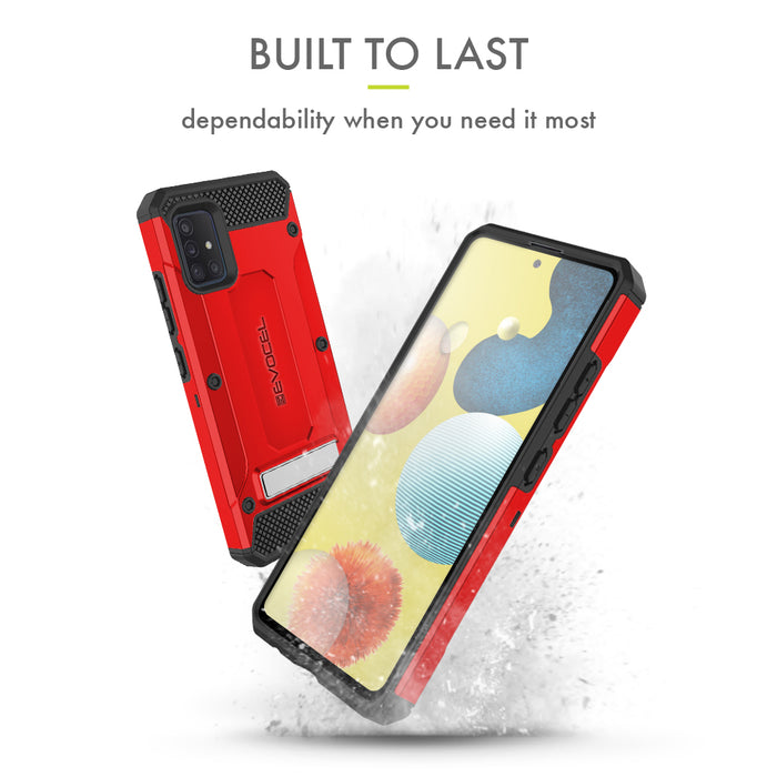 Evocel Samsung Galaxy A51 (5G) Explorer Series Pro Red Case