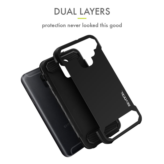 Evocel Samsung Galaxy A6 (2018) Dual Lite Series Black Case