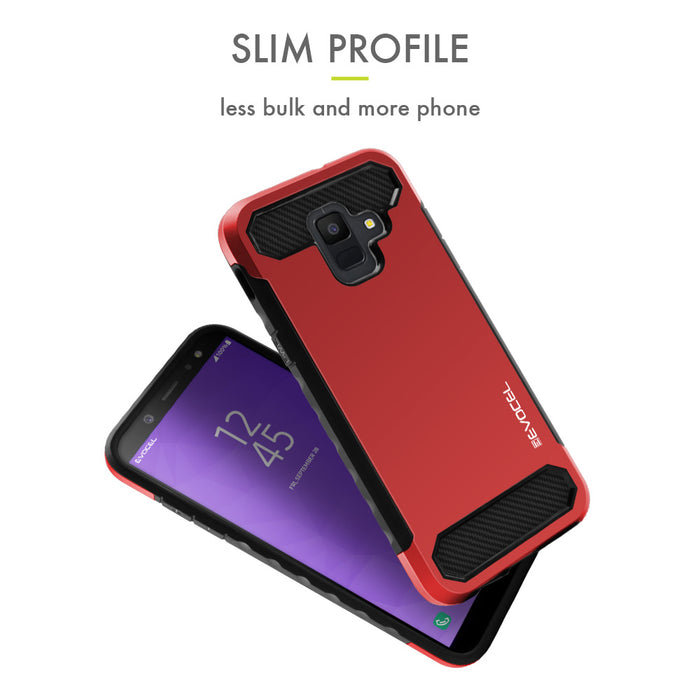 Evocel Samsung Galaxy A6 (2018) Dual Lite Series Red Case