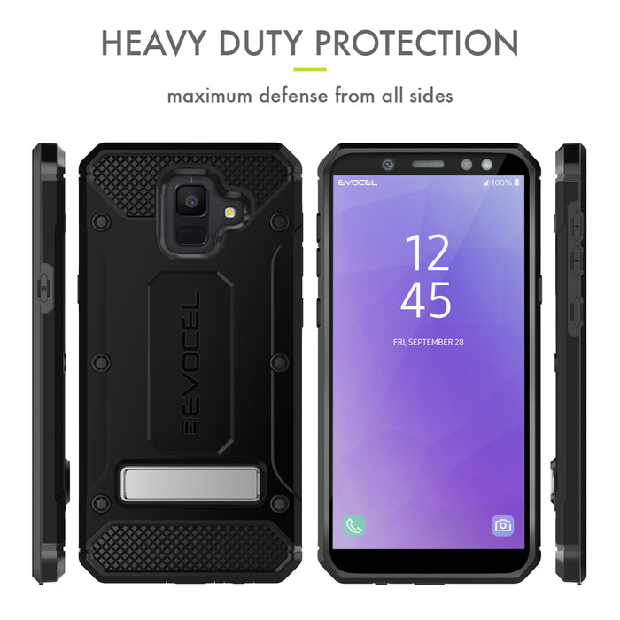 Evocel Samsung Galaxy A6 (2018) Explorer Series Pro Black Case