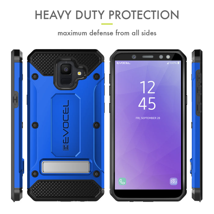 Evocel Samsung Galaxy A6 (2018) Explorer Series Pro Blue Case