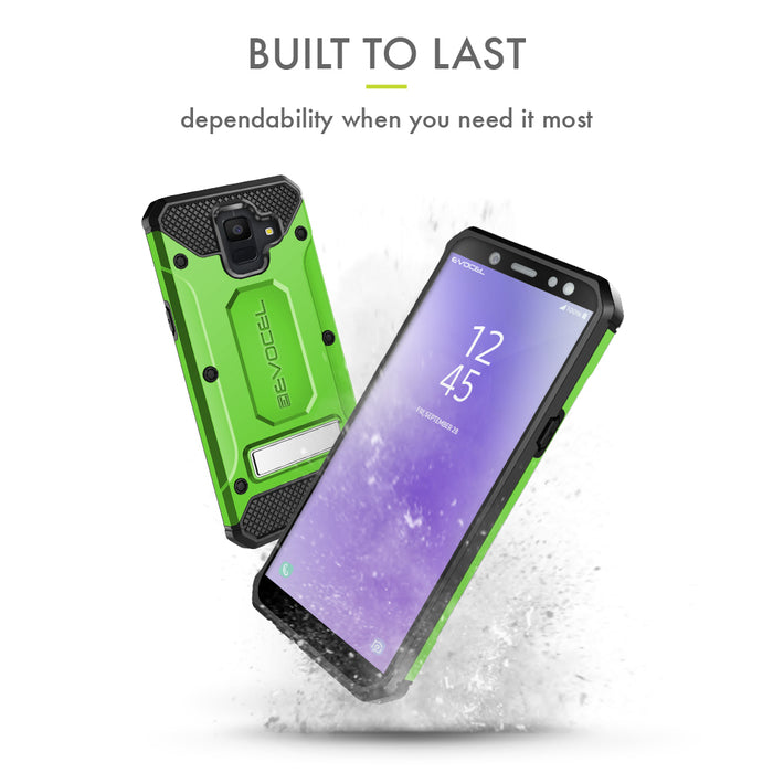 Evocel Samsung Galaxy A6 (2018) Explorer Series Pro Green Case
