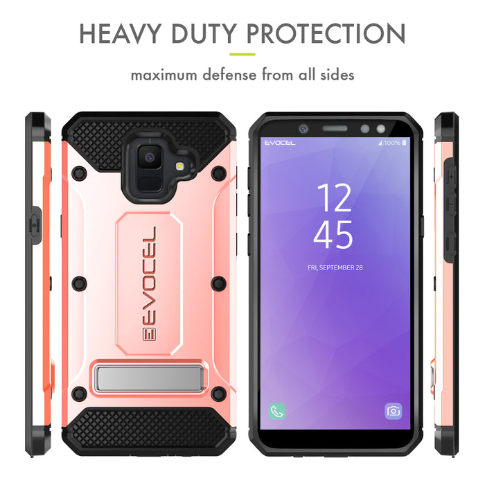 Evocel Samsung Galaxy A6 (2018) Explorer Series Pro Rose Gold Case