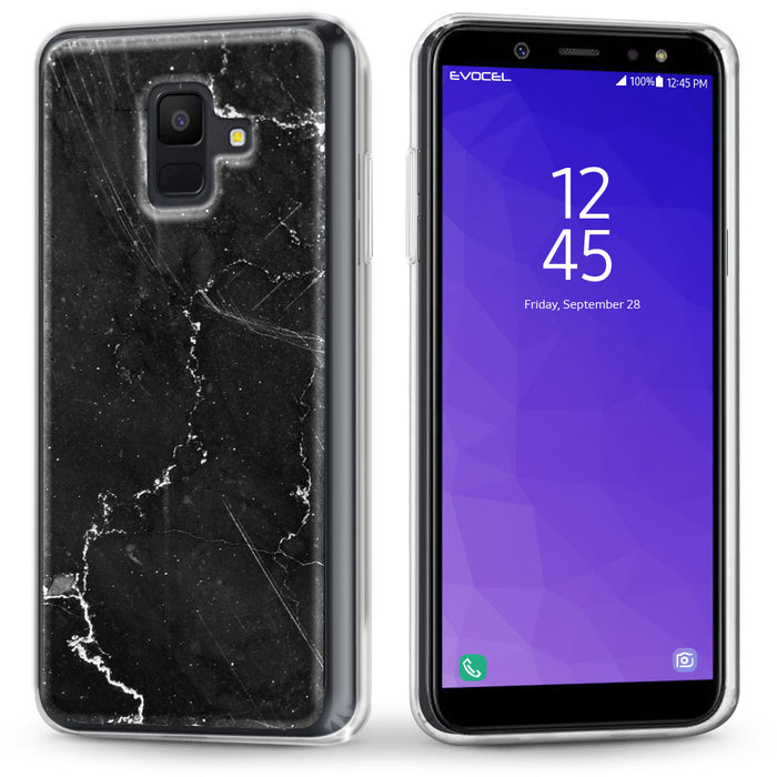 Evocel Samsung Galaxy A6 (2018) Iconic Series Black Marble Case