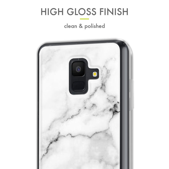 Evocel Samsung Galaxy A6 (2018) Iconic Series White Marble Case