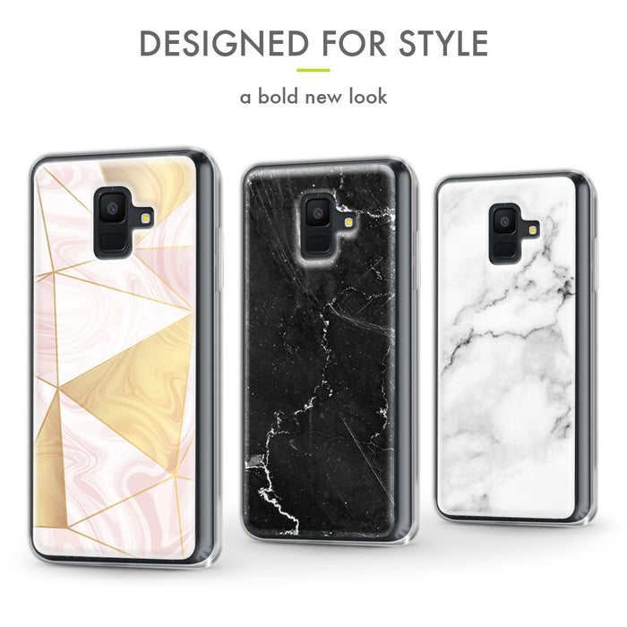Evocel Samsung Galaxy A6 (2018) Iconic Series Geometric Rose Gold Case
