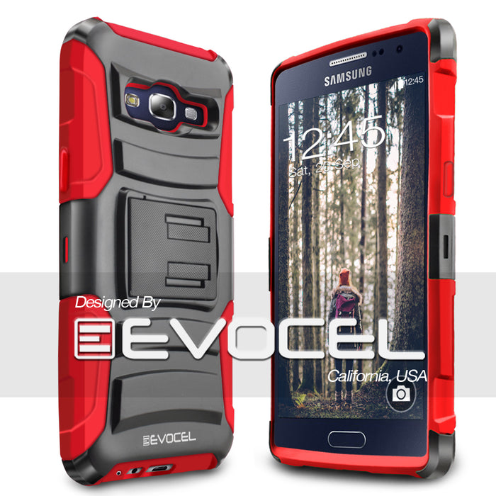 Evocel Samsung Galaxy E5 Generation Series Red Case