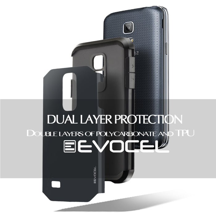 Evocel Samsung Galaxy S5 Mini Armure Series Shadow Blue Case