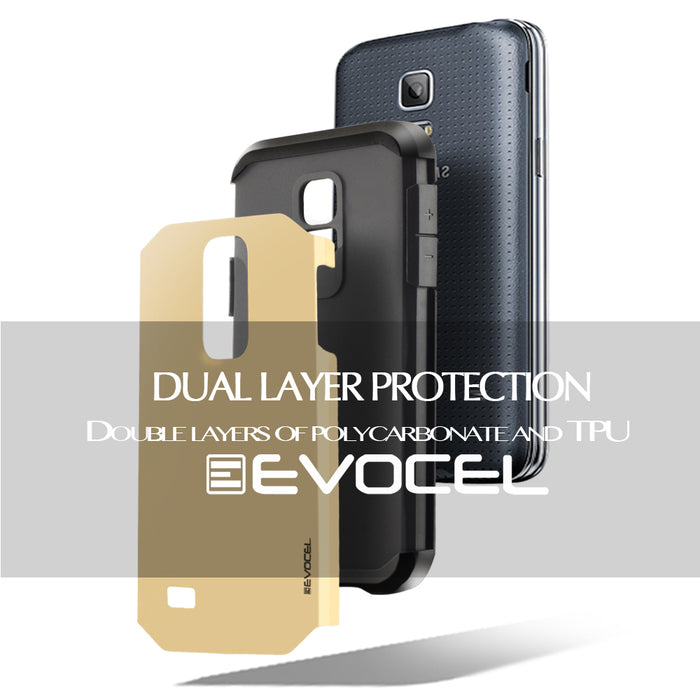 Evocel Samsung Galaxy S5 Mini Armure Series Gold Case