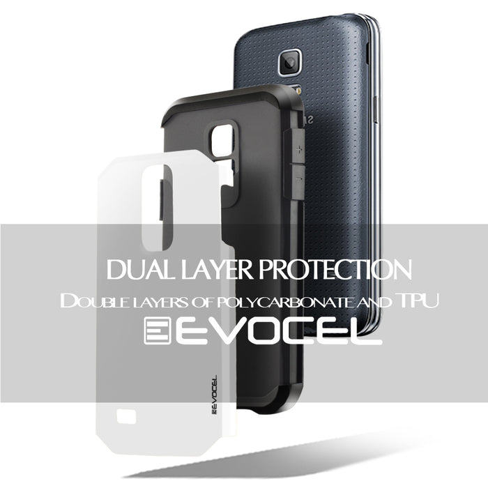 Evocel Samsung Galaxy S5 Mini Armure Series White Case