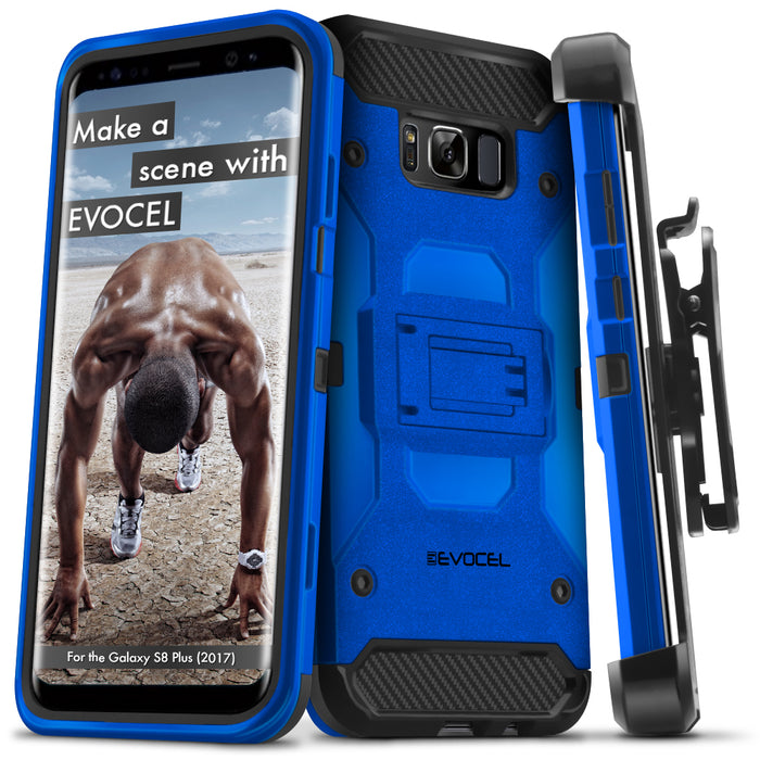 Evocel Samsung Galaxy S8 Plus Trio Pro Series Blue Case