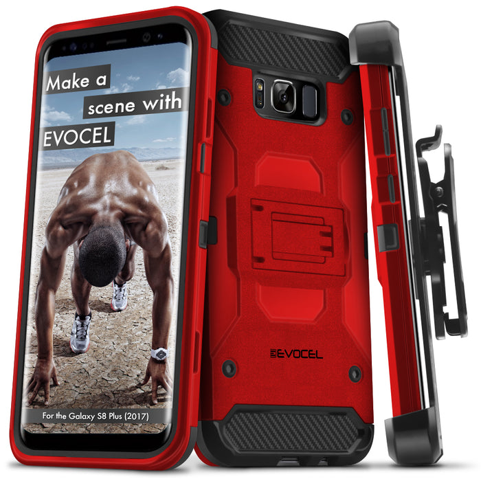 Evocel Samsung Galaxy S8 Plus Trio Pro Series Red Case