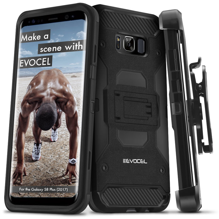 Evocel Samsung Galaxy S8 Plus Trio Pro Series Black Case