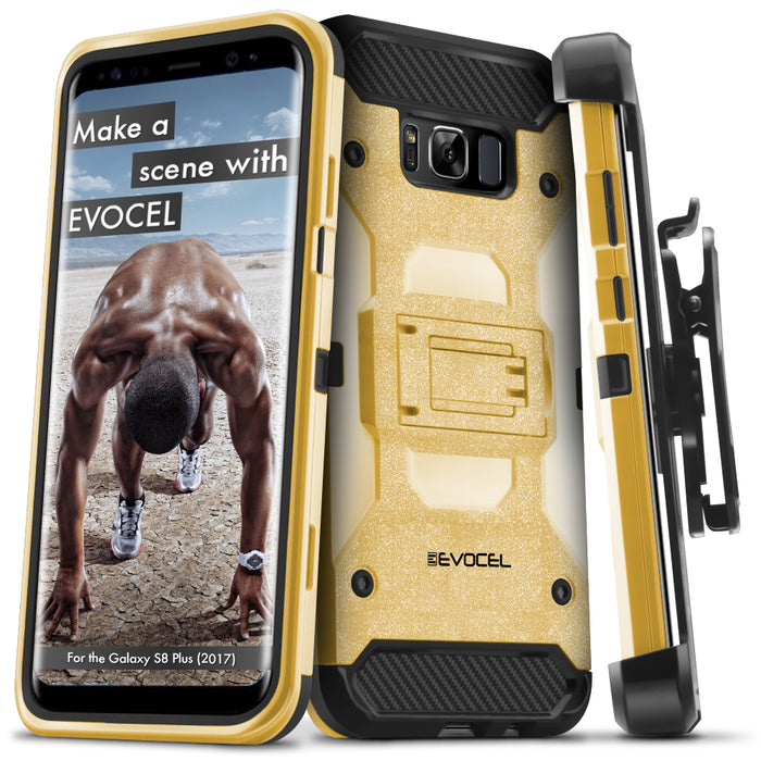 Evocel Samsung Galaxy S8 Plus Trio Pro Series Gold Case