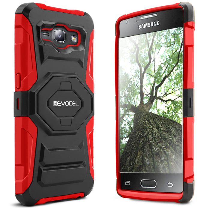 Evocel Samsung Galaxy J1 2015 New Generation Series Red Case