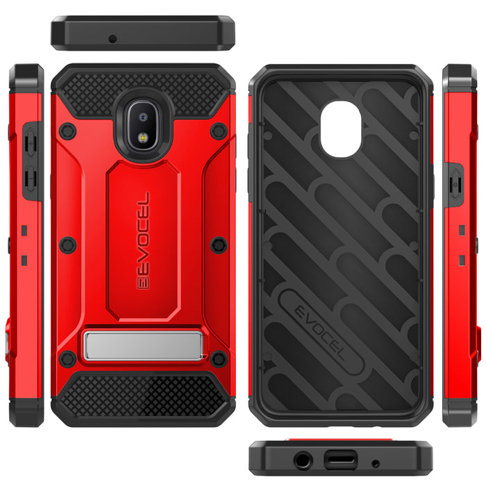 Evocel Samsung Galaxy J3 (2018) Explorer Series Pro Red Case