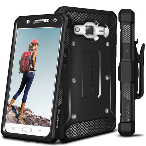 Evocel Samsung Galaxy J7 2015 Explorer Series Black Case