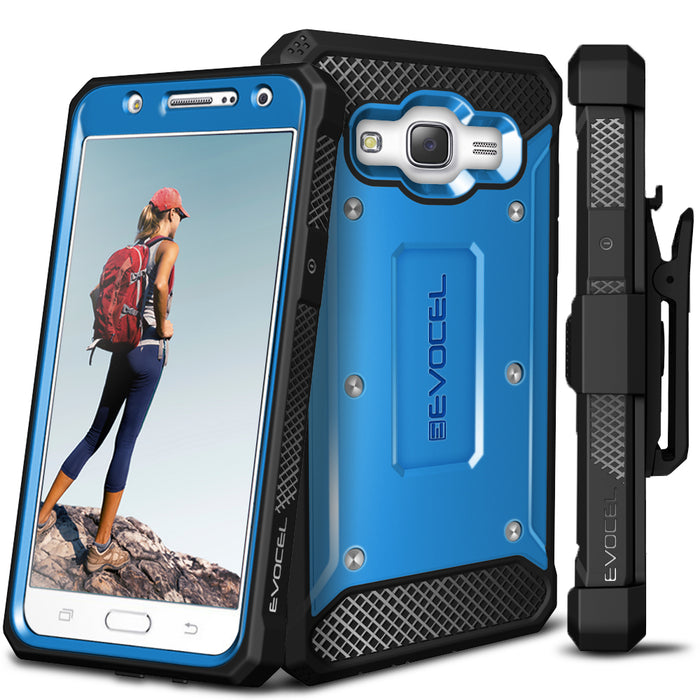 Evocel Samsung Galaxy J7 2015 Explorer Series Blue Case