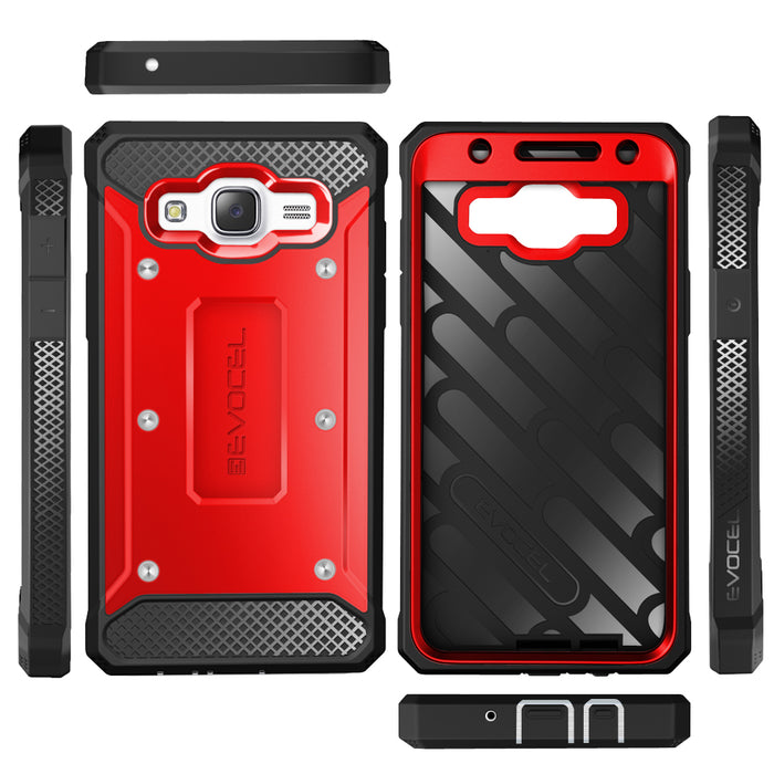 Evocel Samsung Galaxy J7 2015 Explorer Series Red Case