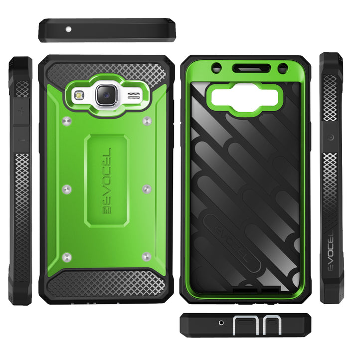 Evocel Samsung Galaxy J7 2015 Explorer Series Green Case