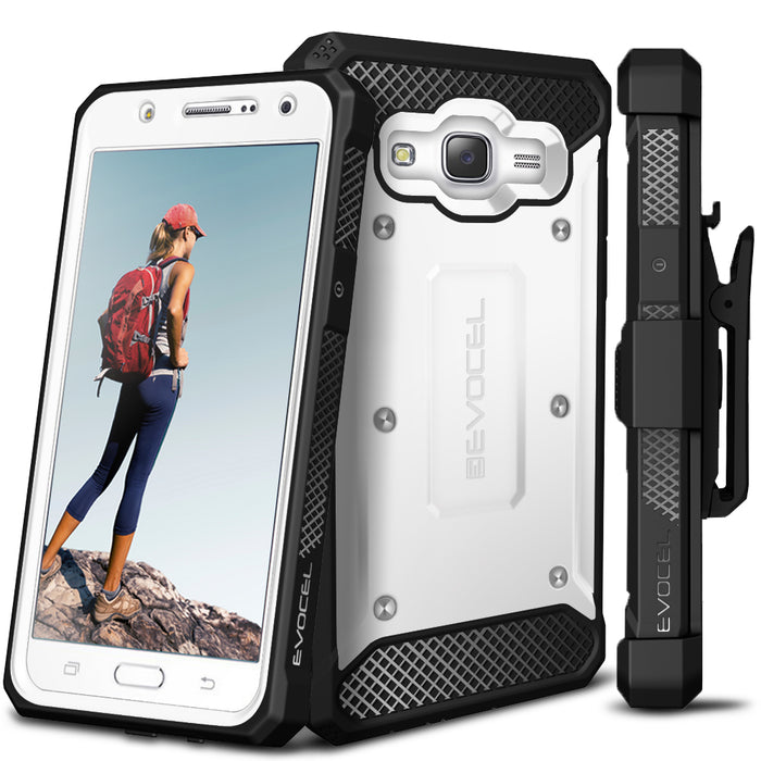 Evocel Samsung Galaxy J7 2015 Explorer Series White Case