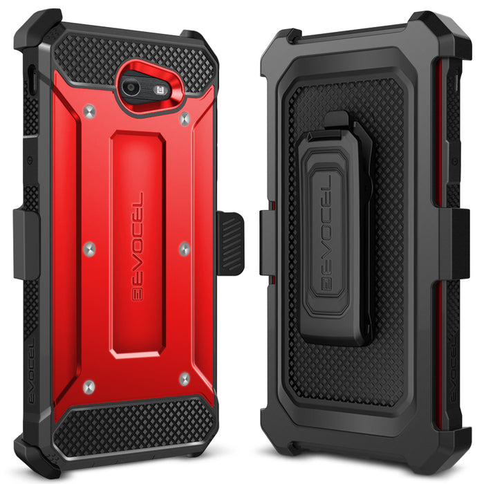 Evocel Samsung Galaxy J7 2017 Explorer Series Red Case