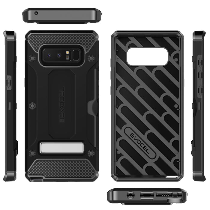 Evocel Samsung Galaxy Note 8 Explorer Series Pro Black Case