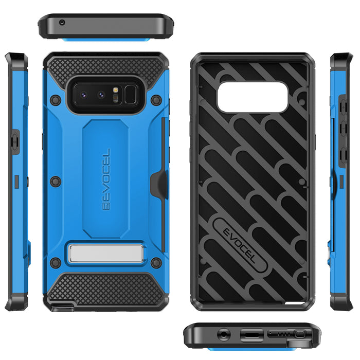 Evocel Samsung Galaxy Note 8 Explorer Series Pro Blue Case