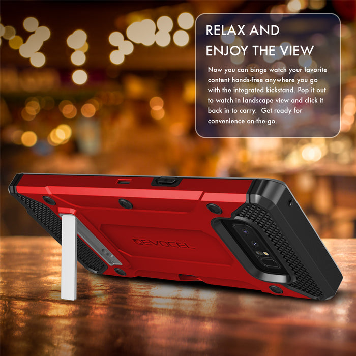Evocel Samsung Galaxy Note 8 Explorer Series Pro Red Case