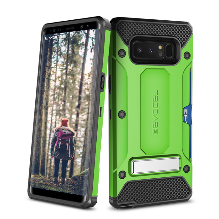 Evocel Samsung Galaxy Note 8 Explorer Series Pro Green Case