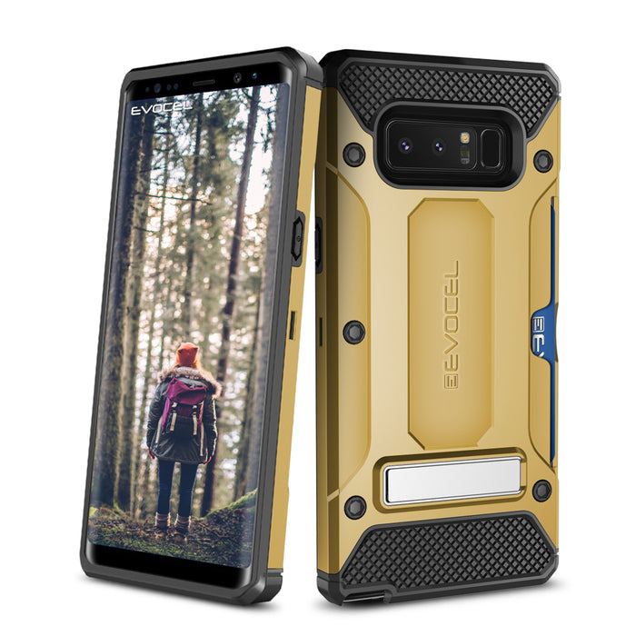 Evocel Samsung Galaxy Note 8 Explorer Series Pro Gold Case
