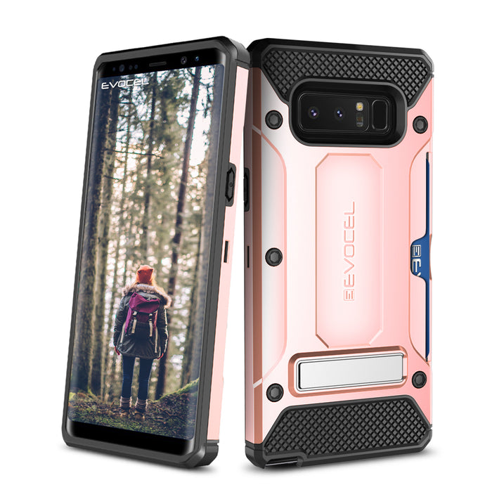 Evocel Samsung Galaxy Note 8 Explorer Series Pro Rose Gold Case