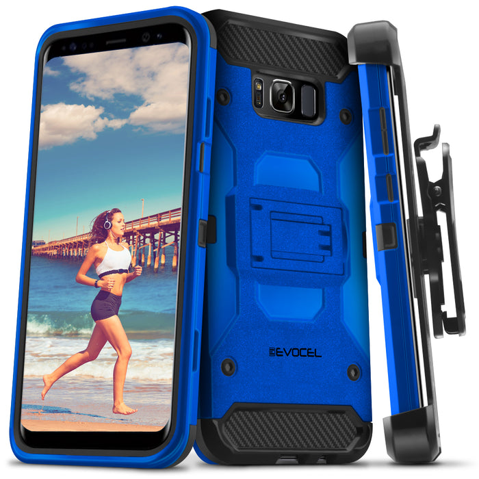Evocel Samsung Galaxy S8 Trio Pro Series Blue Case