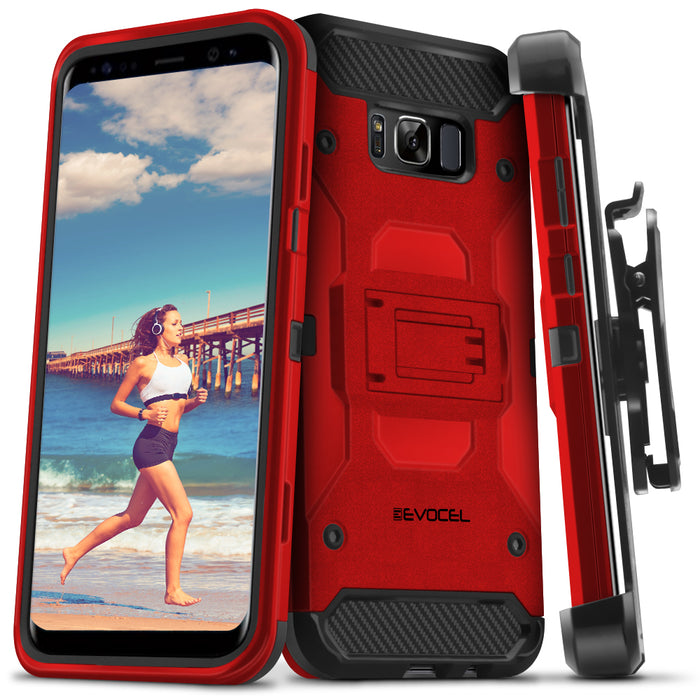 Evocel Samsung Galaxy S8 Trio Pro Series Red Case