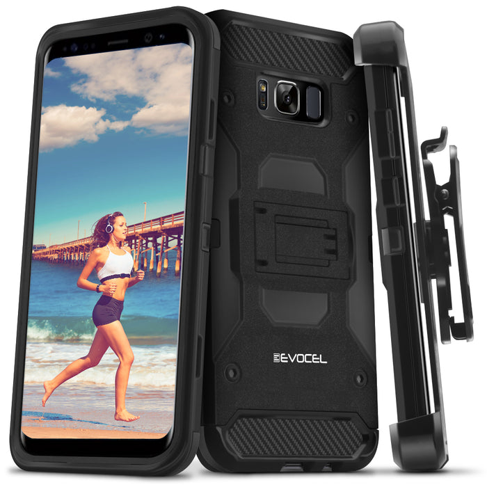Evocel Samsung Galaxy S8 Trio Pro Series Black Case