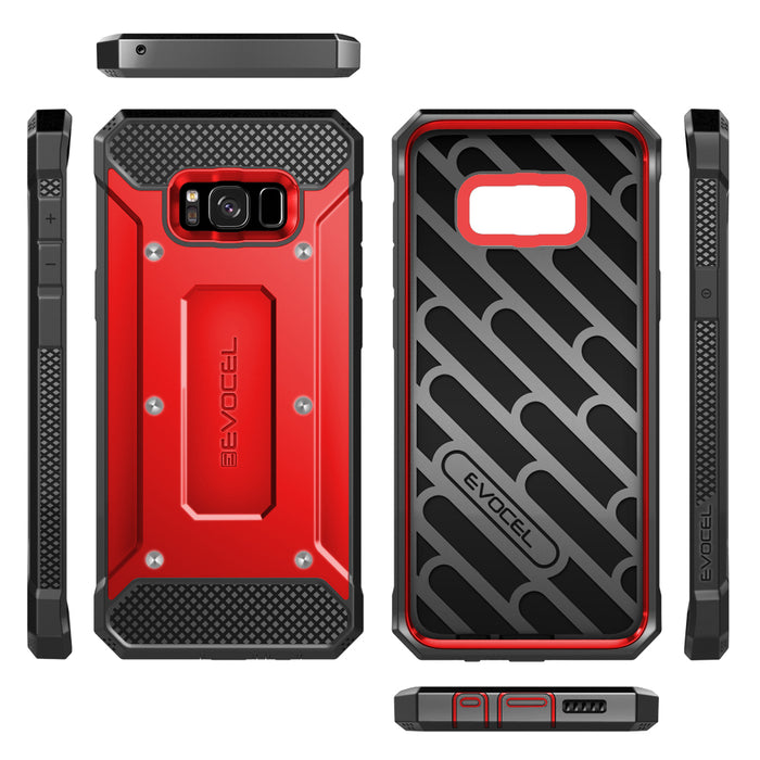 Evocel Samsung Galaxy S8 Explorer Series Red Case