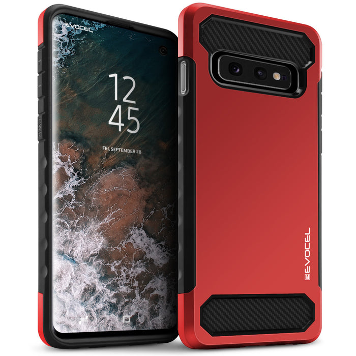 Evocel Samsung Galaxy S10e Dual Lite Series Red Case