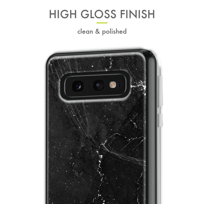 Evocel Samsung Galaxy S10e Iconic Series Black Marble Case