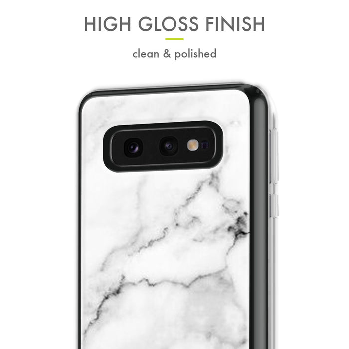 Evocel Samsung Galaxy S10e Iconic Series White Marble Case