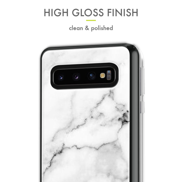 Evocel Samsung Galaxy S10 Iconic Series White Marble Case