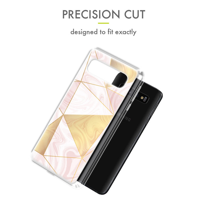 Evocel Samsung Galaxy S10 Iconic Series Geometric Rose Gold Case