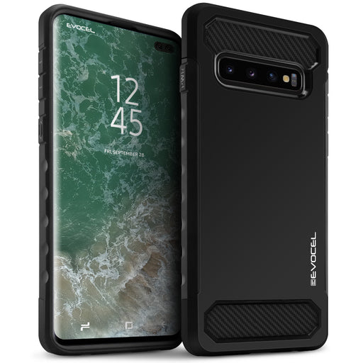 Evocel Samsung Galaxy S10 Plus Dual Lite Series Black Case