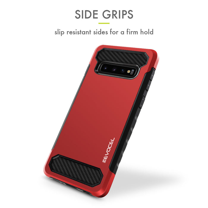 Evocel Samsung Galaxy S10 Plus Dual Lite Series Red Case