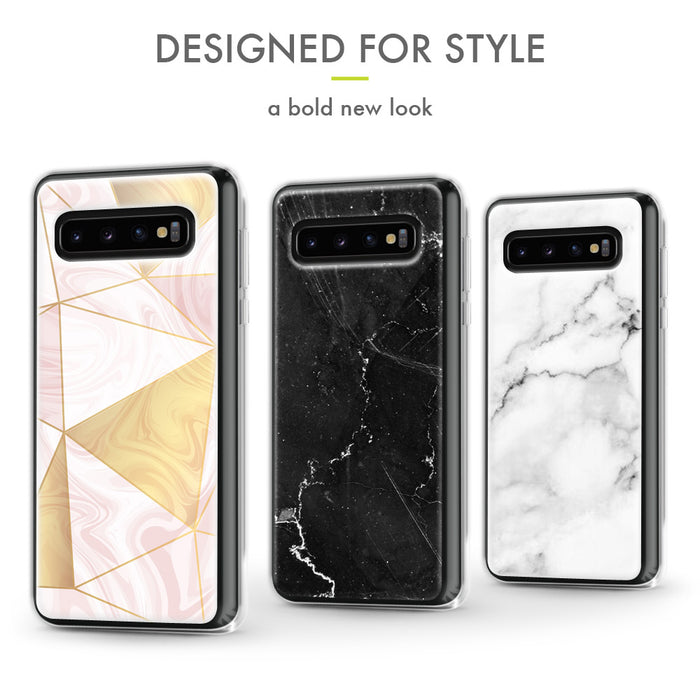 Evocel Samsung Galaxy S10 Plus Iconic Series Black Marble Case