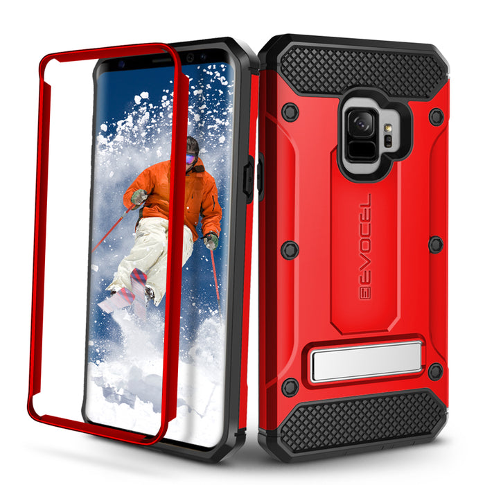 Evocel Samsung Galaxy S9 Explorer Series Pro Red Case