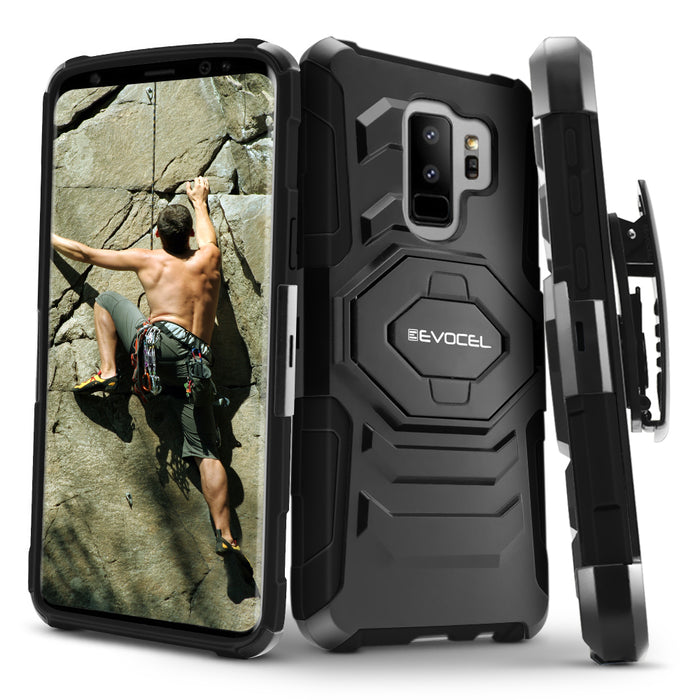 Evocel Samsung Galaxy S9 Plus New Generation Series Black Case